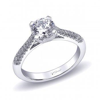 Diamond Micro Pavé Engagement Ring