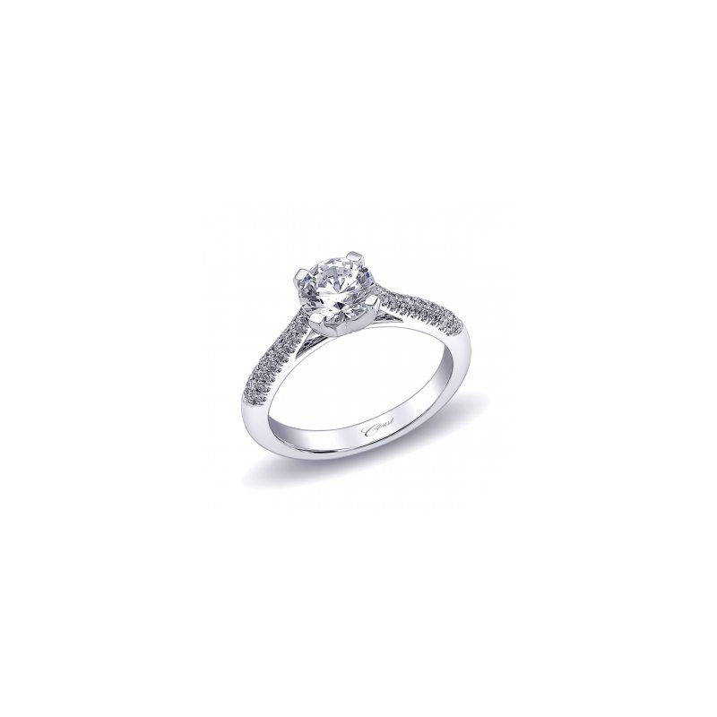 Coast Diamond Diamond Micro Pavé Engagement Ring