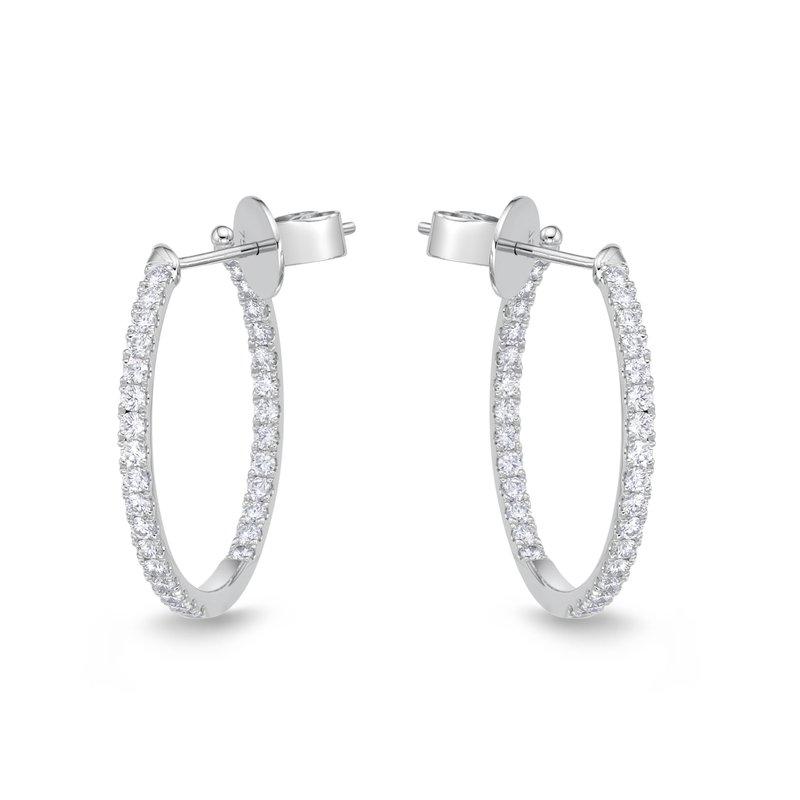 Memoire Diamond Hoops