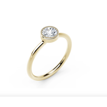 The Forevermark Tribute™ Collection Milgrain Bezel Ring