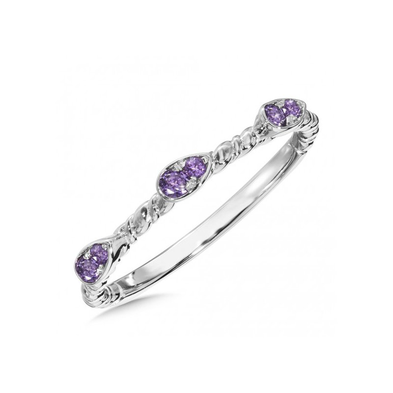 Colore SG Purple Amethyst Stacking Ring