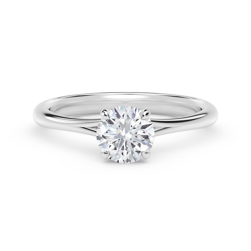 Forevermark Engagement & Commitment Collection Forevermark Icon™ Setting Round Engagement Ring with Diamond Basket