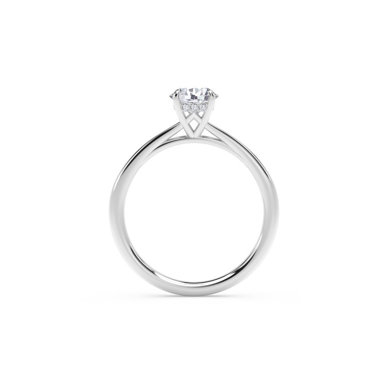 Forevermark Engagement & Commitment Collection Forevermark Icon™ SettingRound Engagement Ring with Diamond Basket