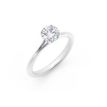 Forevermark Icon™ SettingRound Engagement Ring with Diamond Basket