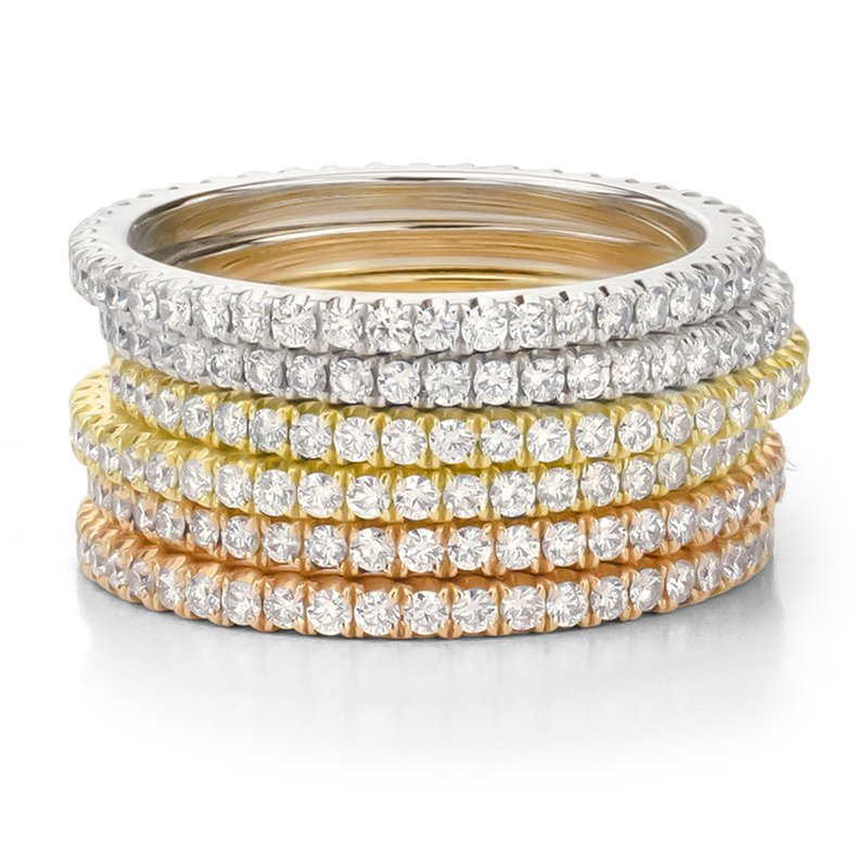 Forevermark Micropave Stackable Rings