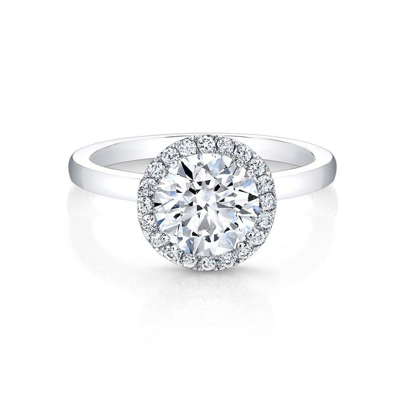 Forevermark Modern Diamond Round Halo Engagement Ring