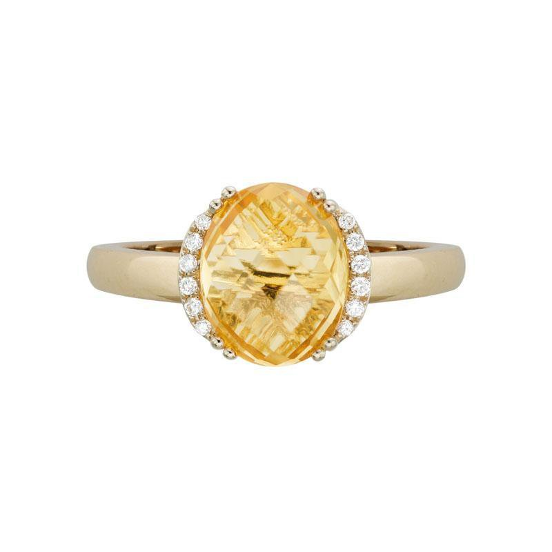Artistry Limited Citrine and Diamond Ring