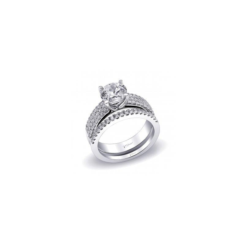 Coast Diamond Three Row Diamond Engagement Ring