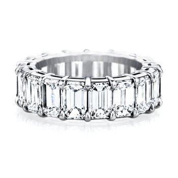 Mutual Prong Emerald-Cut Diamond Eternity Band