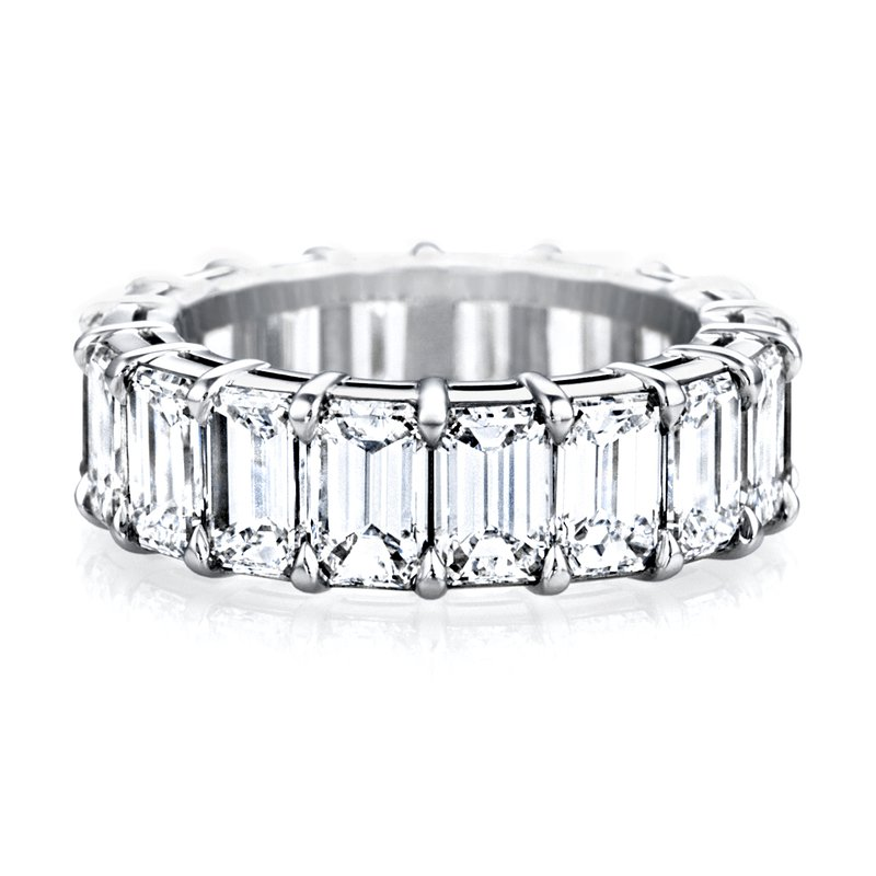 Sasha Primak Mutual Prong Emerald-Cut Diamond Eternity Band