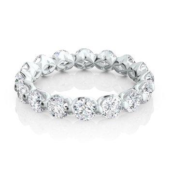 """Royal Prong"" Round Diamond Eternity Band"