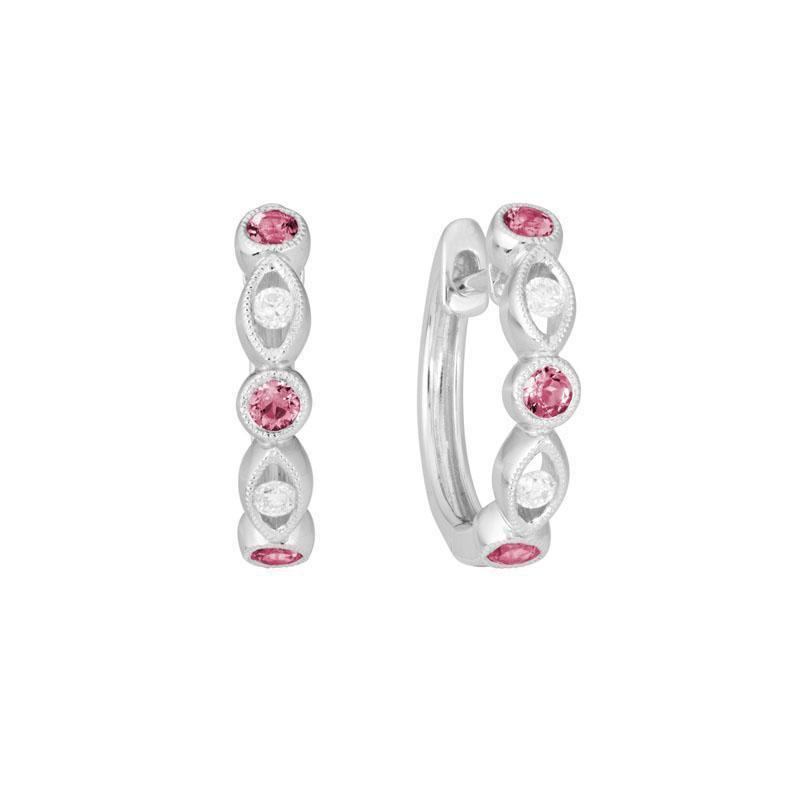Artistry Limited Pink Tourmaline Hoop Earrings