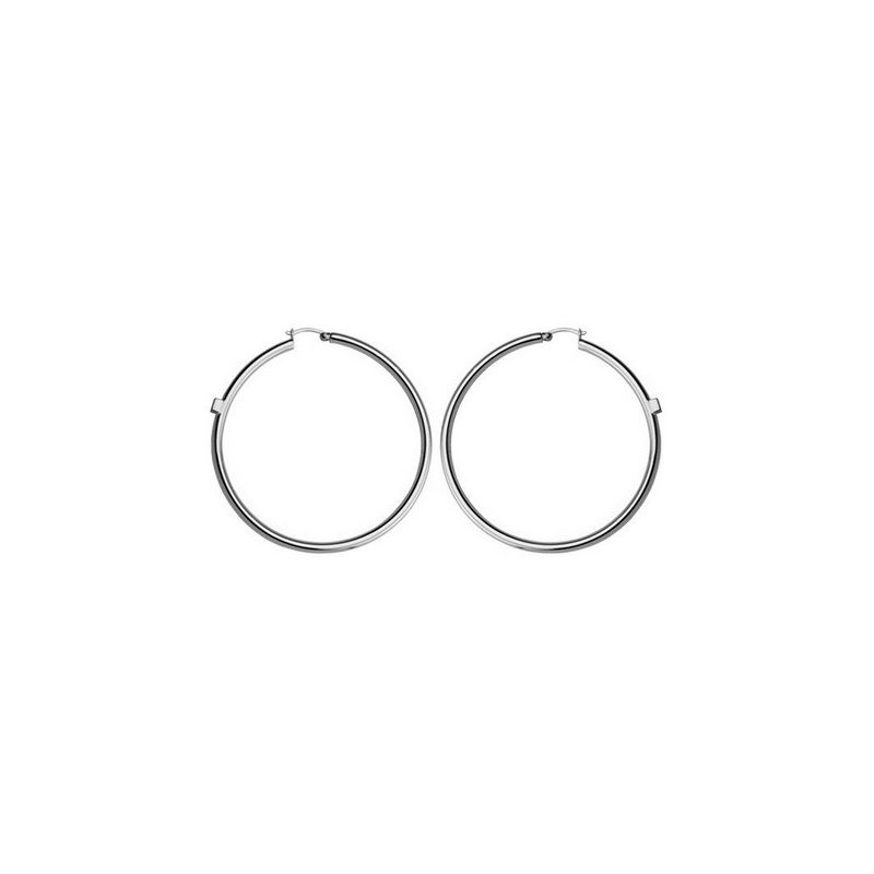 ELLE Sterling Silver Hoop Earrings
