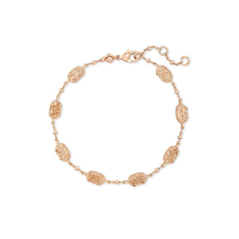 Kendra Scott Emilie Link Bracelet in Rose Gold Sand Drusy