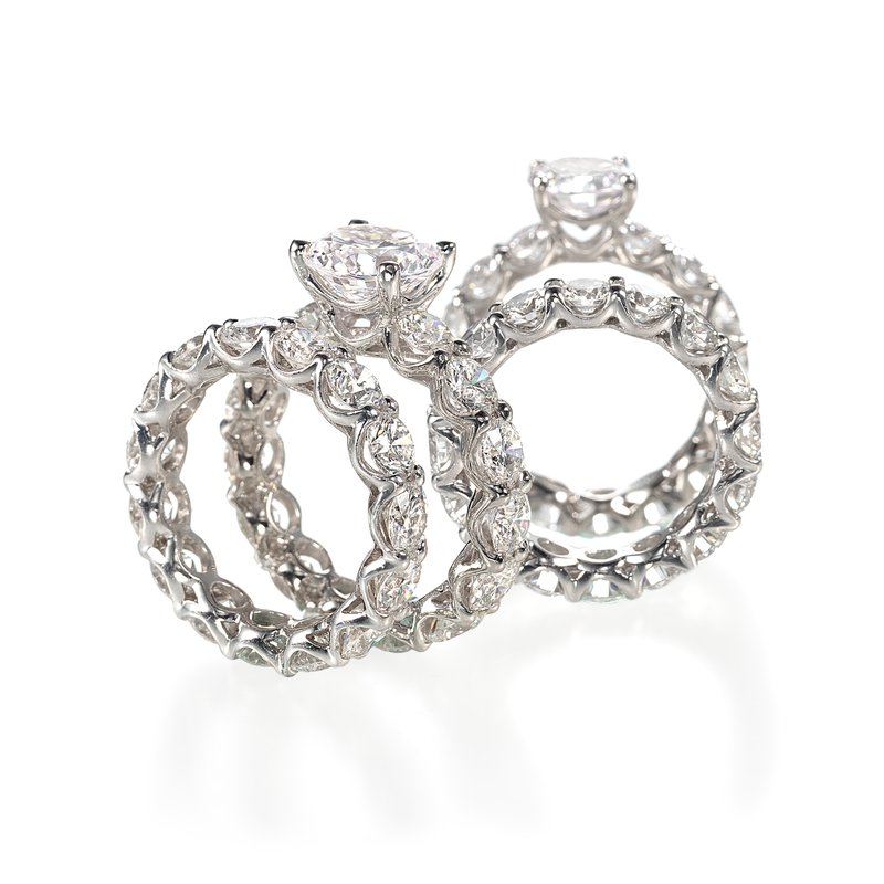 Forevermark Cathedral U-Prong Engagement Ring