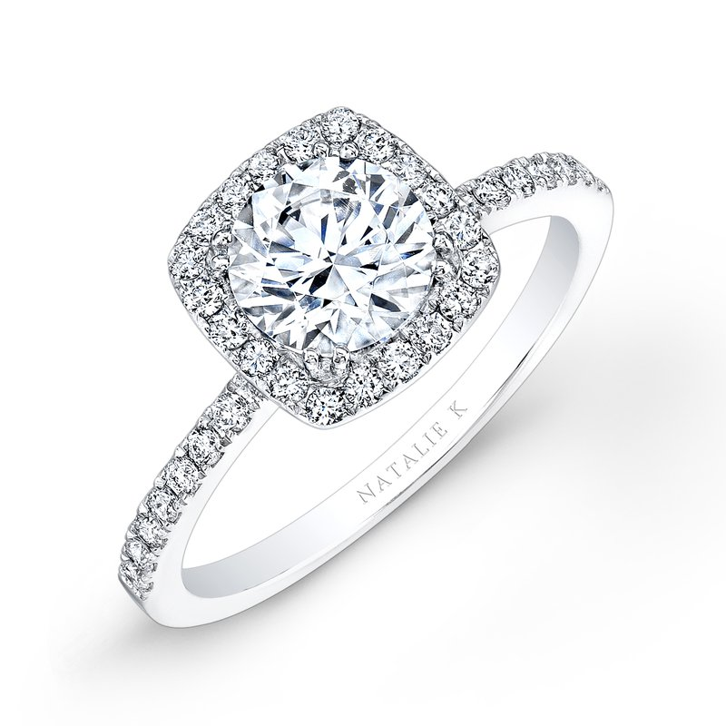 Forevermark Cushion Halo Engagement Ring