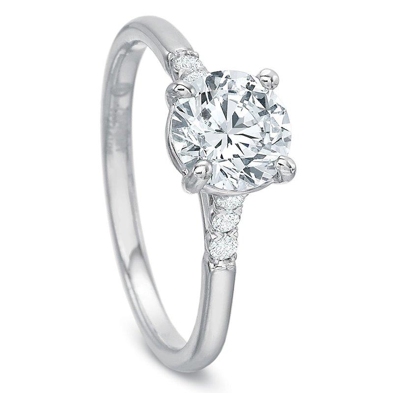 Precision Set Diamond Engagement Ring