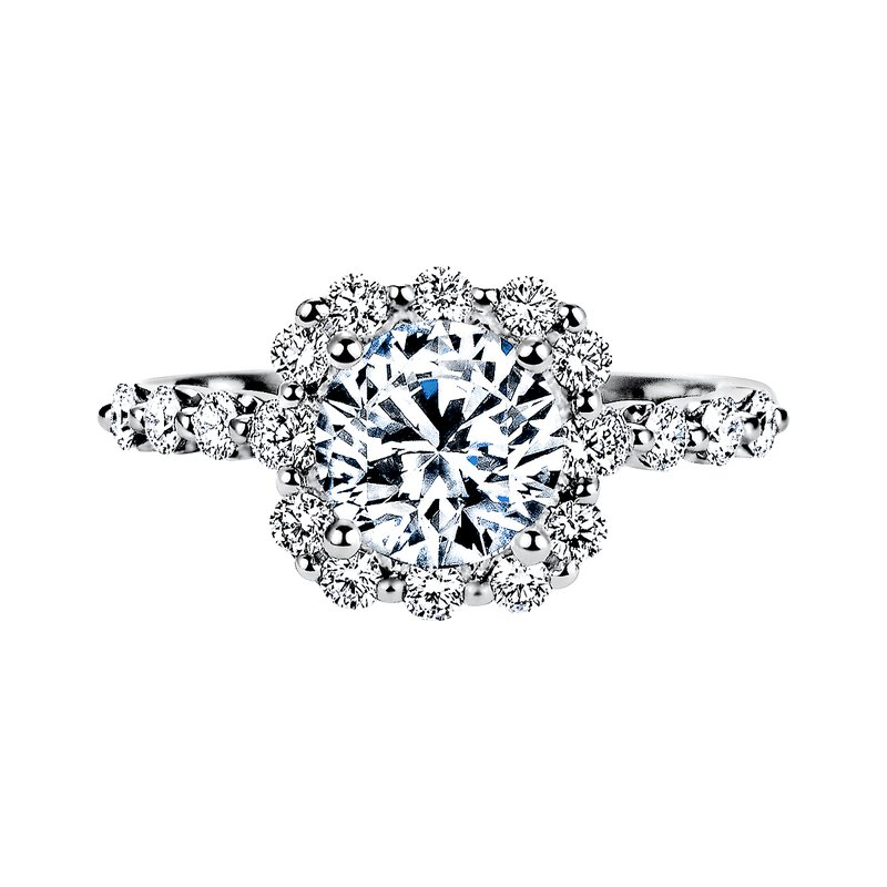 Sasha Primak Diamond Halo Engagement Ring