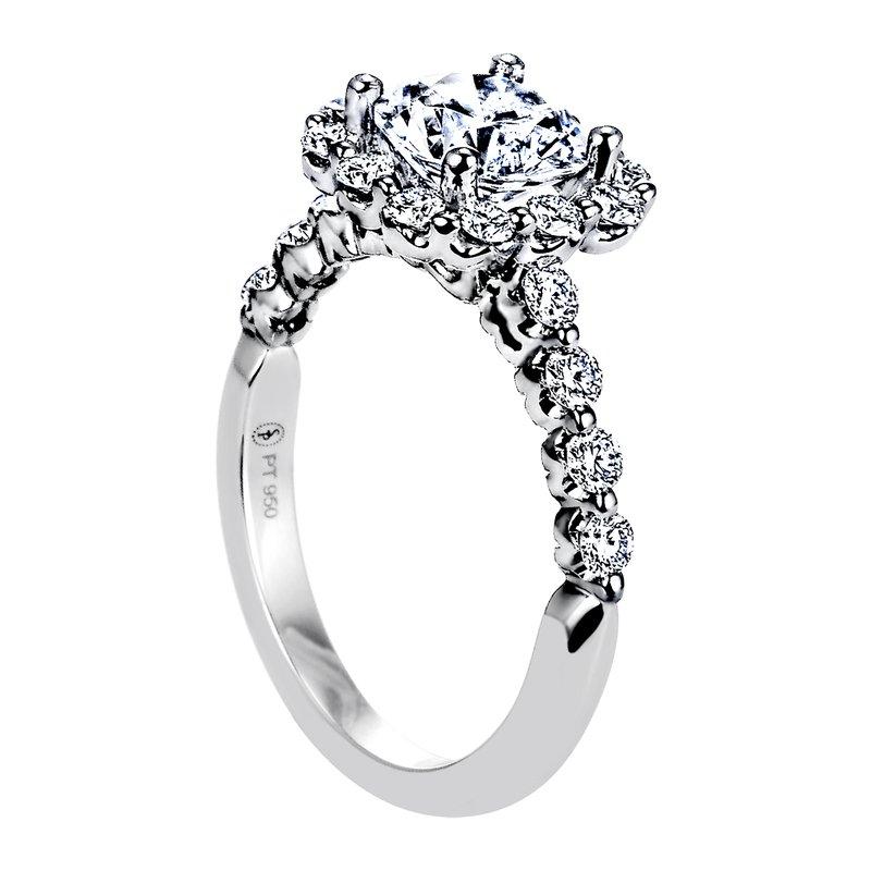 Sasha Primak Diamond Halo Engagement Ring