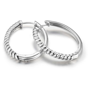 Rope Style Hoop Earrings