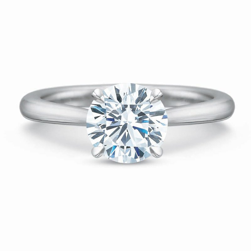 Forevermark Aire Cathedral Solitaire Engagement Ring