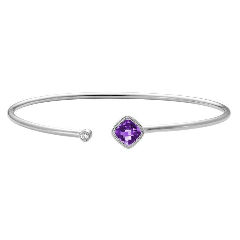 Artistry Limited Amethyst Bangle Bracelet