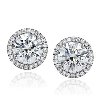 Center of My Universe Diamond Halo Stud Earrings