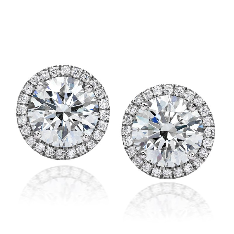 Forevermark Center of My Universe Diamond Halo Stud Earrings
