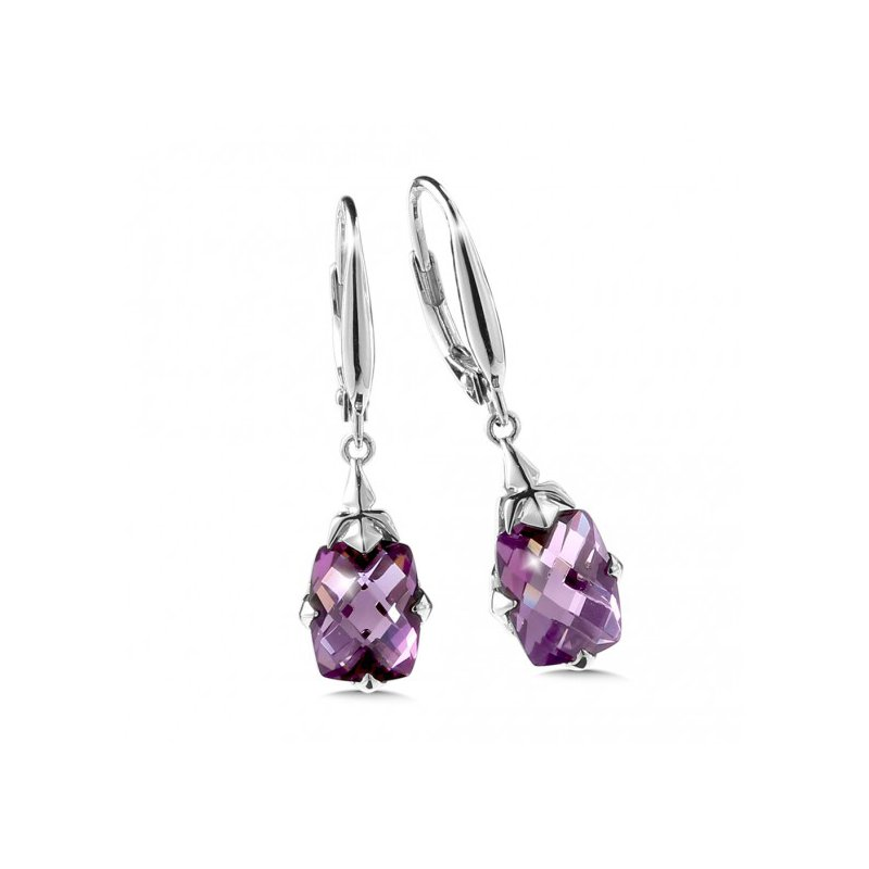 Colore SG Purple Amethyst Dangle Earrings