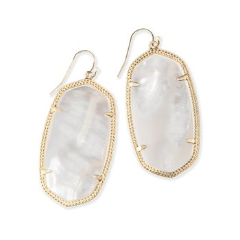 Danielle Earrings Gold Ivory Mother of Pearl