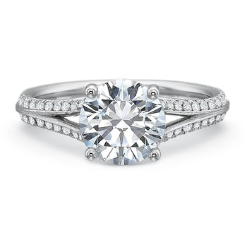 New Aire Split Shank Engagement Ring