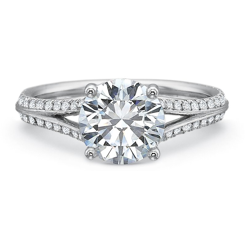 Precision Set Split Shank Engagement Ring