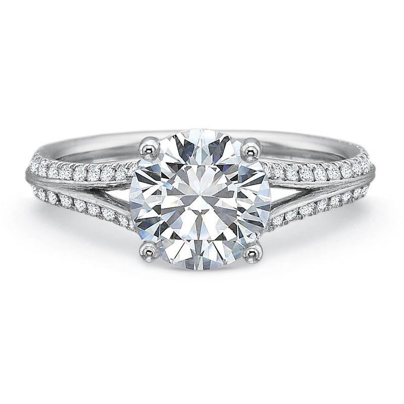 Precision Set Split Shank Engagement Ring