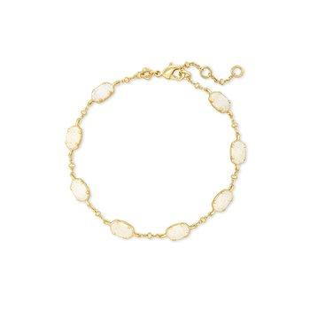 Emilie Link Bracelet in Gold Iridescent Drusy