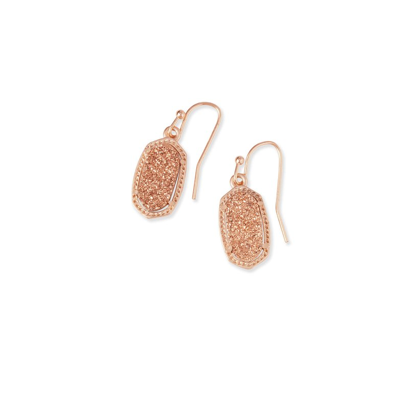 Kendra Scott Lee Earrings Rose Gold Rose Drusy