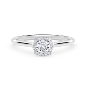 Center of My Universe® Round with Cushion Halo Engagement Ring