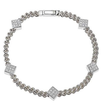 Five Diamond Cluster Bracelet
