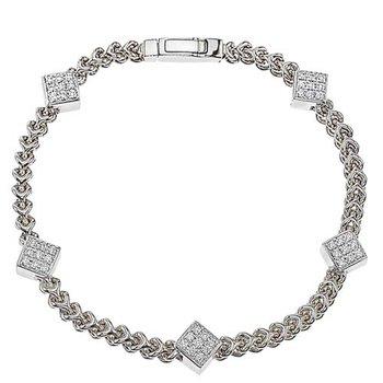 Five Diamond Cluster Bracelet