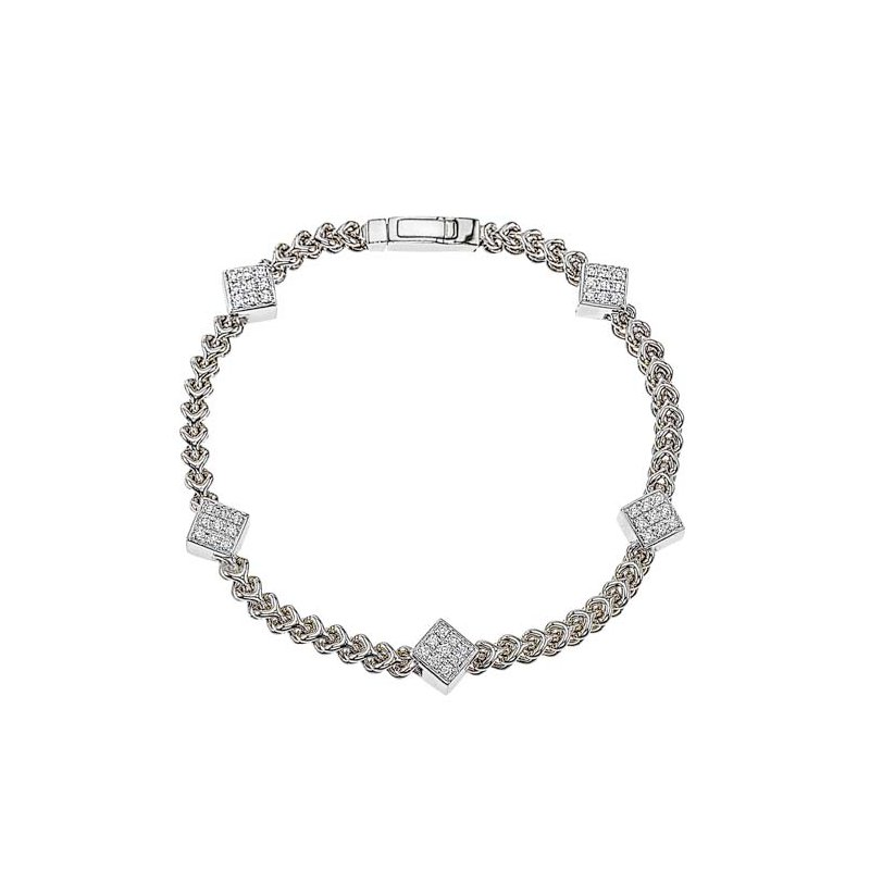 DA Gold Five Diamond Cluster Bracelet