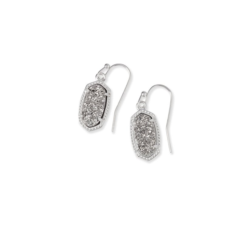 Kendra Scott Lee Earrings Rhodium Platinum Drusy