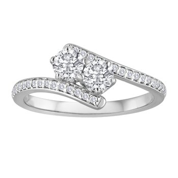 EVER US Two Stone Diamond Ring, Featuring Forevermark® Diamonds