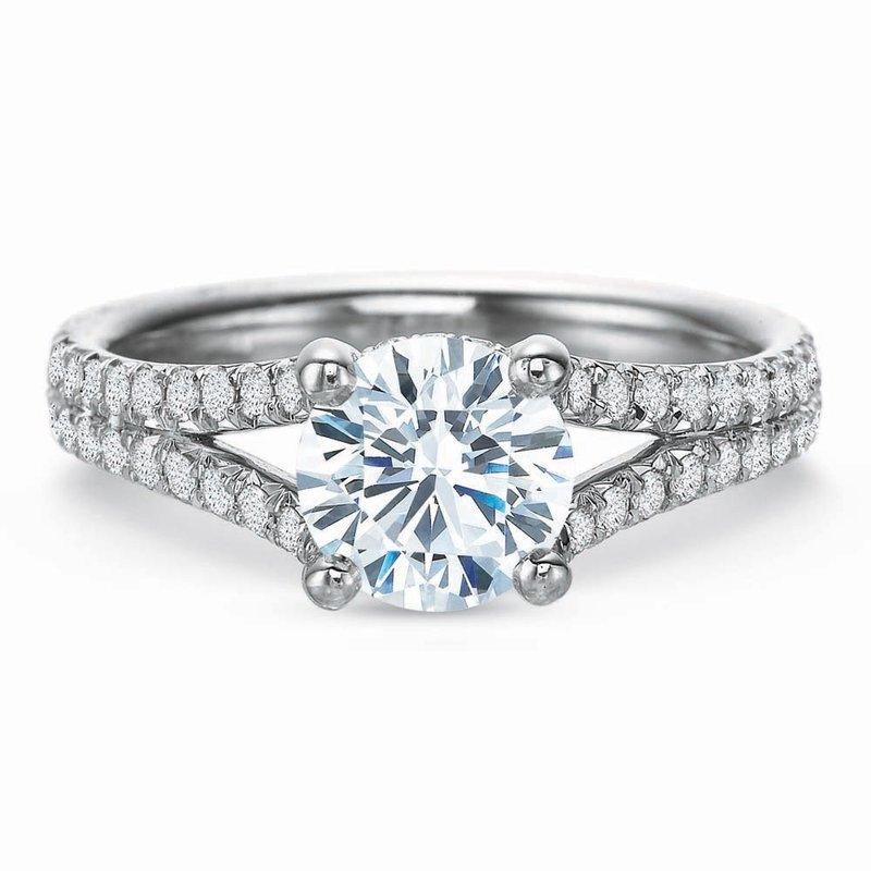 Forevermark Diamond Split Shank Engagement Ring