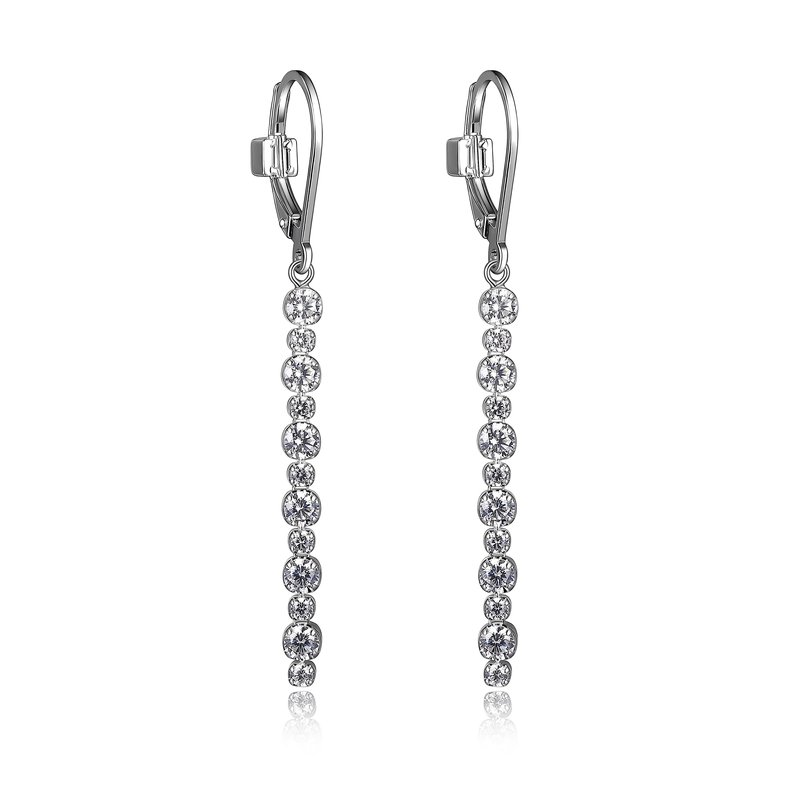 ELLE Boutique Rodeo Drive Collection Dangle Earring - White