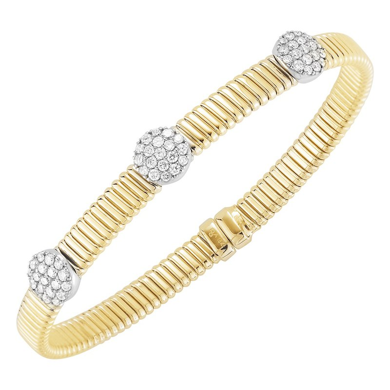DA Gold Three Cluster Stacking Bracelet