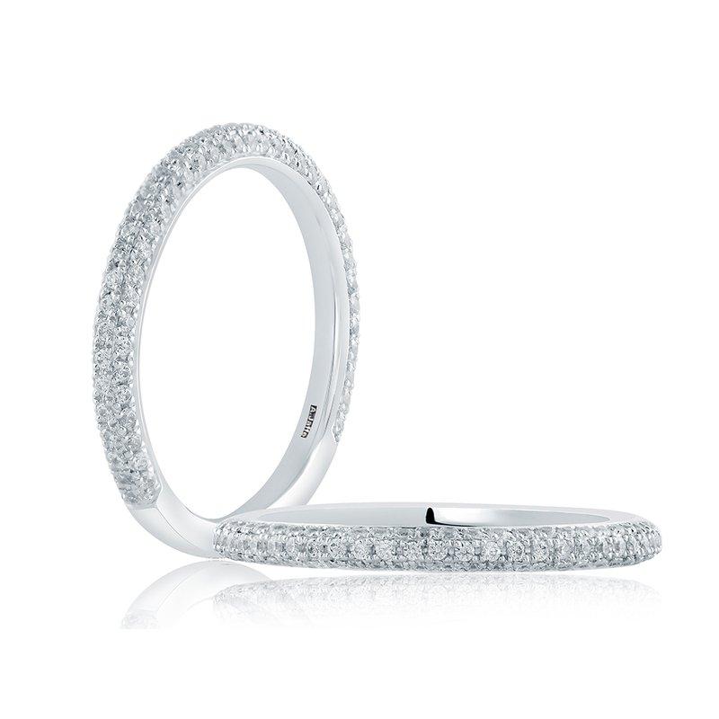 A. Jaffe Micro-Pavé Diamond Wedding Band