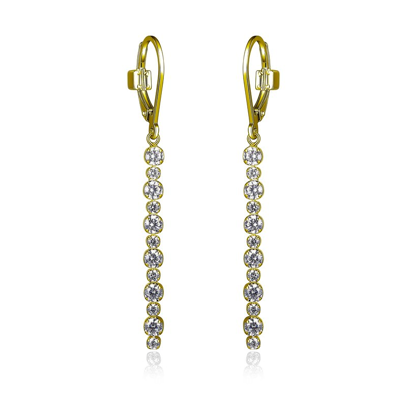 ELLE Boutique Rodeo Drive Collection Dangle Earring - Yellow