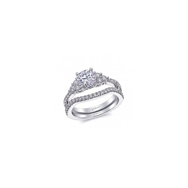 Coast Diamond Engagement Ring with Diamond Accents