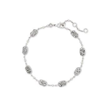 Emilie Link Bracelet in Rhodium Platinum Drusy