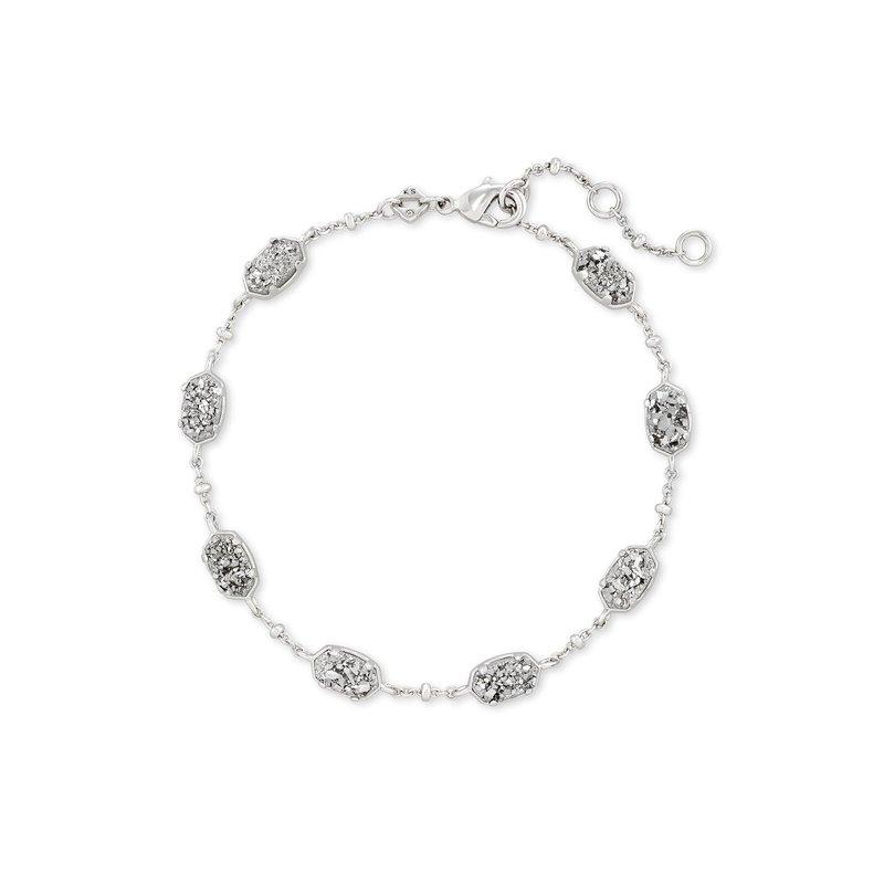 Kendra Scott Emilie Link Bracelet in Rhodium Platinum Drusy