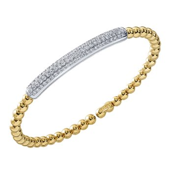 Four Row Pave Set Cuff Bracelet
